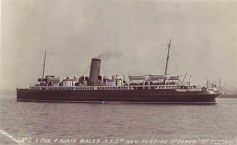 The S.S. Tudno - that once sailed around Anglesey