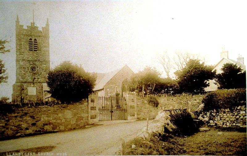 Llandegfan Church in 1912