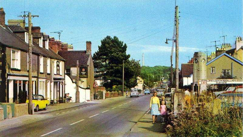 Llanfairpwll Village in the 1960's