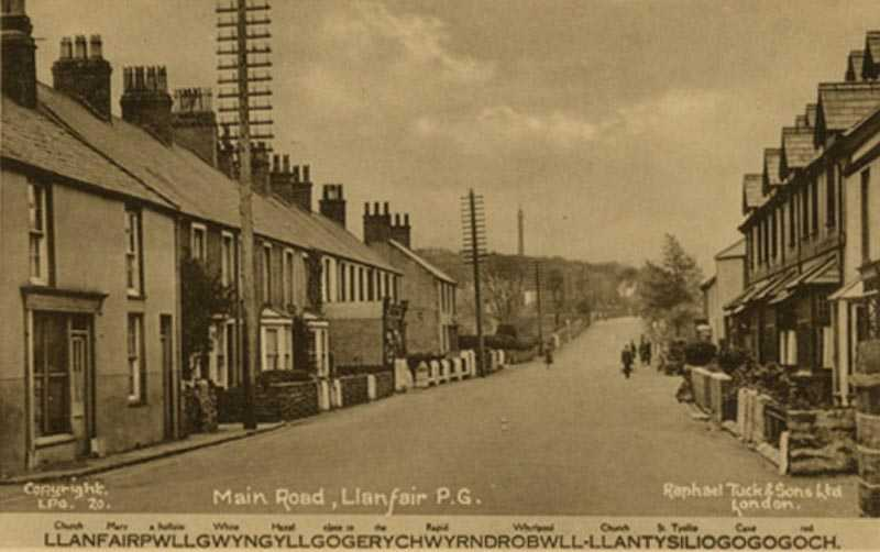 Llanfairpwll Village in the 1910's