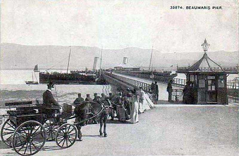 Beaumaris Pier - possibly in the 1890's