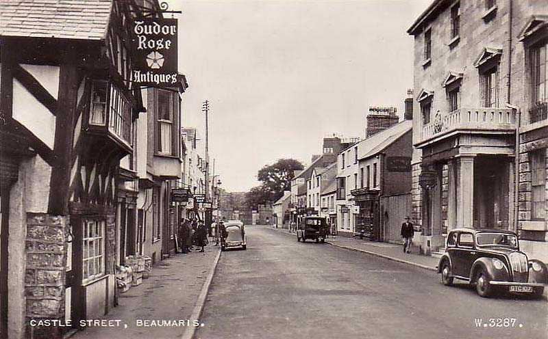 Beaumaris, Castle Street in the 1950's
