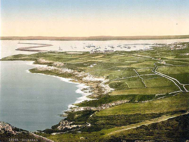 A general view of Holyhead from the mountain in the 1900's