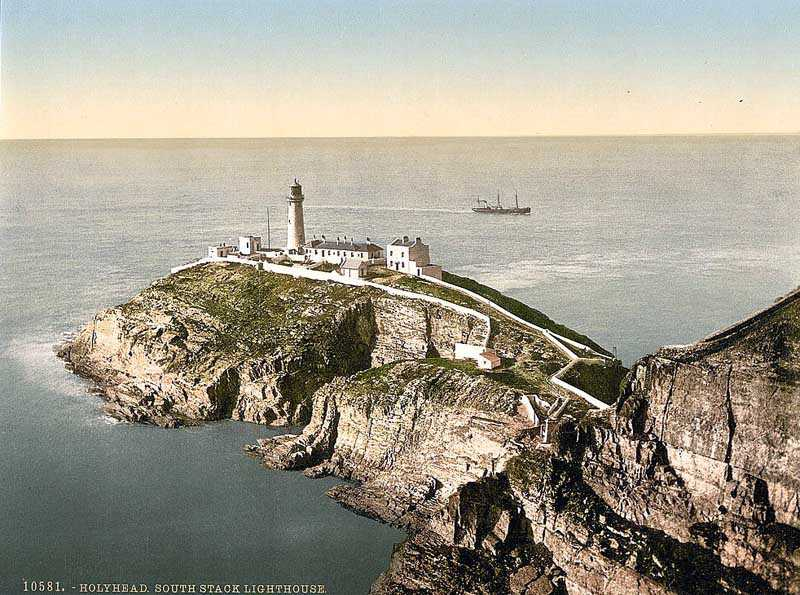 South Stack Lighthouse in the 1900's
