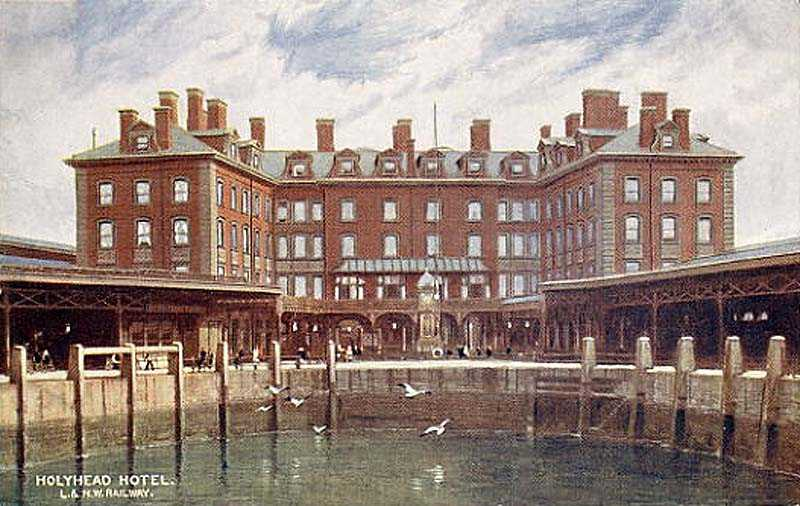The Station Hotel from the Inner Harbour