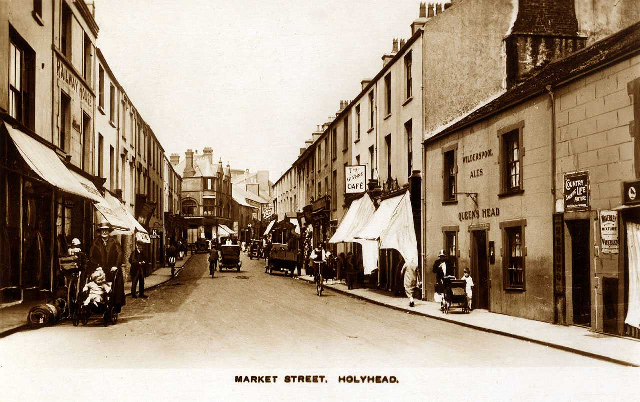 Anglesey, Holyhead, Market Street in the 1930's