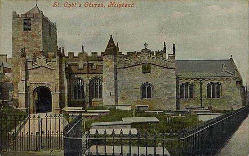 Holyhead's St Cybi's Church in the 1910's
