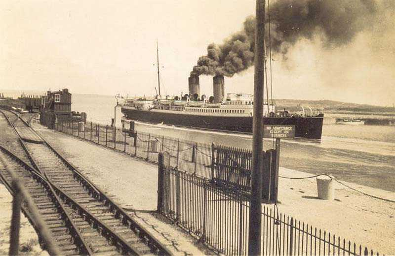 A steamship in the Harbour