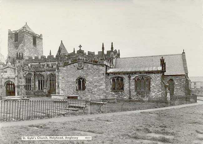 Holyhead's St Cybi's Church in the 1950's