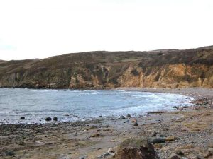 The pebble beach at Church Bay 2005