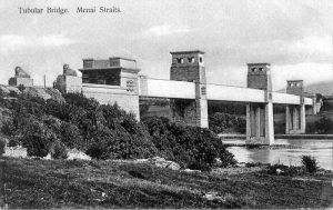 Menai Tubular Bridge early 1900's